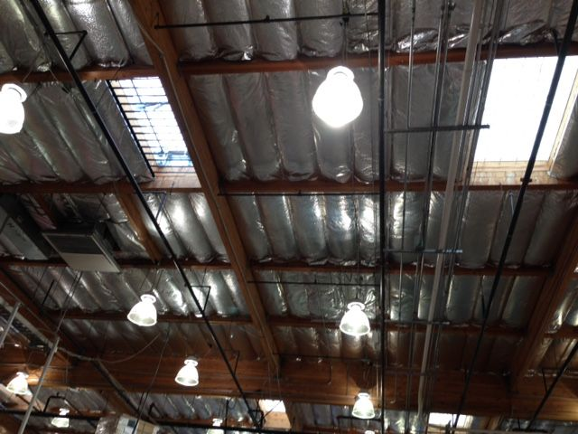 Costco Insulated Roof Inside Store